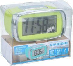 Grundig Digitale wekker/alarm klok limegroen met kalender functie