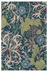 Morris & Co - Laagpolig vloerkleed Morris & Co Seaweed Ink 28008 - 200x280 cm