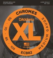D'Addario ECB82 Chromes Bass Medium 50-105 flatwound bassnarenset