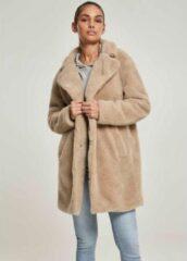 Creme witte Urban Classics Winterjas -5XL- Oversized Sherpa Creme