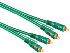 Groene Wentronic SAV 500 G 5.0m 5m 2 x RCA Groen audio kabel