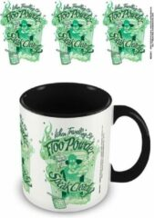 Witte HARRY POTTER - Coloured Inner Mug - Floo Powder Black