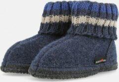 Haflinger Paul Sokpantoffel - Jeans - 32 - Vilt, Kinderpantoffel, warm om de enkels