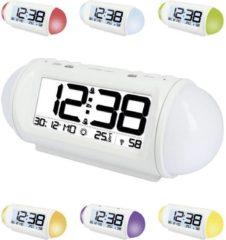 Techno Line WT 499 Wekker Zendergestuurd Wit Alarmtijden: 2