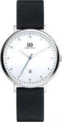 Zilveren Danish Design watches edelstalen dameshorloge Copenhagen Date White Black Medium IV12Q1188