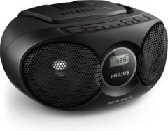 Philips Az215b / 12 Cd-speler Met Digitale Tuner En 3,5 Mm Audio-ingang - Zwart