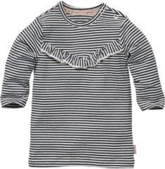 LEVV gestreepte jersey jurk wit/zwart