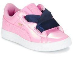 Roze Lage Sneakers Puma BASKET HEART PATENT PS