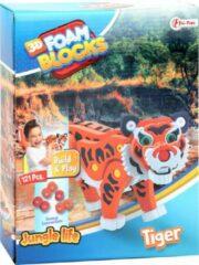 Oranje Stemen Tijger 3D puzzel van foam   Tiger Puzzel