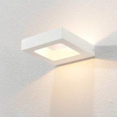 Merkloos / Sans marque Artdelight - Wandlamp Carré - Wit - LED 4W 2700K - IP54 > wandlamp binnen | wandlamp buiten | wandlamp wit | muurlamp | led lamp