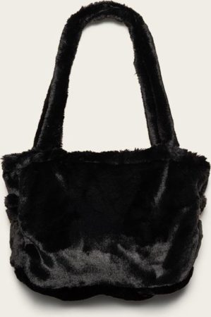 Afbeelding van Zwarte Omaybags Omay City Bag Black Faux Fur