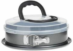 Decopatent® Ronde Springvorm Bakvorm met Deksel - Ø26 Cm ROND - Metaal - Met Draagdeksel - Ronde Bakvorm - Cakevorm - Taartvorm
