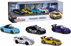 Paarse Majorette - Porsche 5 stuks - cadeaubox