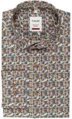 Witte Haupt Heren overhemd met streepjes print | Maat M
