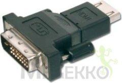 Zwarte ASSMANN Electronic AK-320500-000-S DVI-D (18+1) HDMI A (F) Zwart kabeladapter/verloopstukje