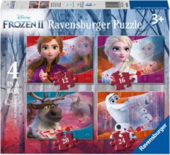 Ravensburger Disney Frozen 2 4in1box puzzel - 12+16+20+24 stukjes - kinderpuzzel