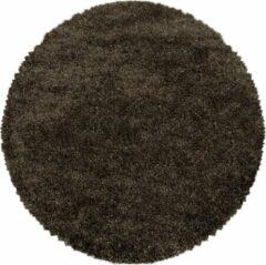 Impression Himalaya Pearl Soft Rond Shaggy Hoogpolig Vloerkleed Bruin - 80 CM ROND