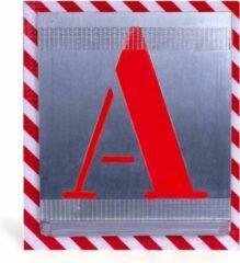 BVG alfabetsjablonen, hoogte 150mm