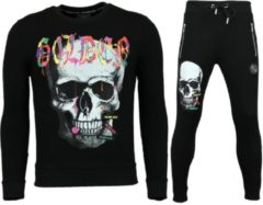 Golden Gate Heren Trainingspakken - Slim fit Joggingpak Mannen- Color Skull - Zwart - Maat: XS