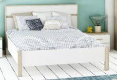 Young Furniture Tweepersoonsbed Selena 140x190cm - eiken met wit