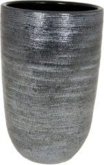 HS Potterie Donker Grijze Vaas/Pot Stockholm - Donker Grijze Vaas/Pot Stockholm 25x50