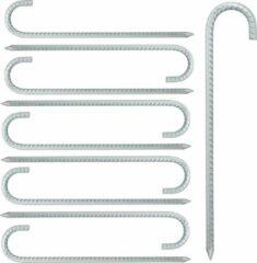 Zilveren Relaxdays tentharingen 10 stuks - haringen - grondpennen - grondharingen - lang - staal