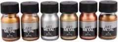 Creativ company ES Art Metal Verf - Verf - Set met 6 Metallic Kleuren