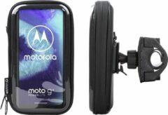 Interphone - Motorola Moto G8 Power Lite Motorhouder Unicase Telefoonhouder Fiets en Motor Stuur Zwart