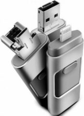 Grijze OTG Flash Drive voor iPhone / iPad / iPod ios en PC - USB-stick - 128GB