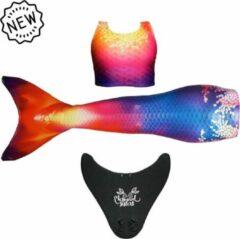 Mermaid Sisters Zeemeermin staart Sunny Sunset - Product Maat: M