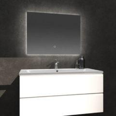 Douche Concurrent Badkamerspiegel Kiki 80x60cm Geintegreerde LED Verlichting Verwarming Anti Condens Touch Lichtschakelaar