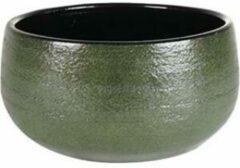 Donkergroene Ter Steege Bowl Zembla groen bloempot binnen 25 cm