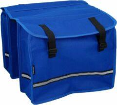 Dunlop Dubbele Fietstas Blauw - 15 Liter - 12 X 30 X 36 Cm - Fietstassen