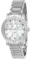 Zilveren Invicta Wildflower 4718 Quartz Dameshorloge - 33mm - Met 16 diamanten