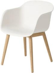 Muuto Fiber Stuhl Holzgestell Eiche/Weiß (B-Ware)