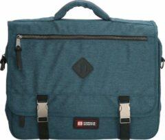 Blauwe Enrico Benetti laptoptas 17 inch jeans