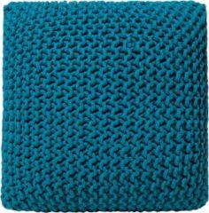 Beliani Poef zeeblauw 50 x 50 x 31 cm CONRAD