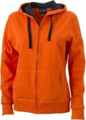 James & Nicholson Oranje sweatvest voor dames S