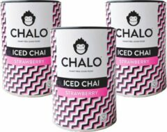 CHALO Iced Tea - Strawberry Iced Chai Pakket - Zwarte Assam thee -3 x 300GR