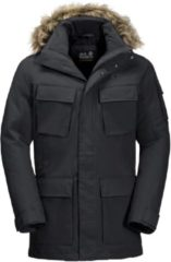 Zwarte Jack Wolfskin Glacier Canyon Parka Outdoorjas Heren - Black - Maat XL