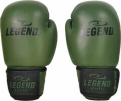 Donkergroene Legend Sports Leren Bokshandschoenen LegendPadding Army 16 oz