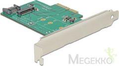 PCI Express naar 7-Polig SATA + M.2 NGFF adapter - Delock