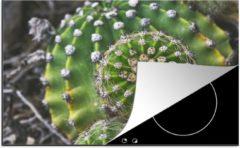 Groene KitchenYeah Luxe inductie beschermer Schoonmoedersstoel Cactus - 78x52 cm - Vogelperspectief van de schoonmoedersstoel cactus - afdekplaat voor kookplaat - 3mm dik inductie bescherming - inductiebeschermer