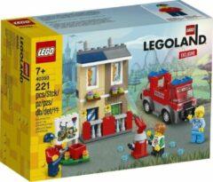 Beige Lego Legoland 40393 Brandweerschool