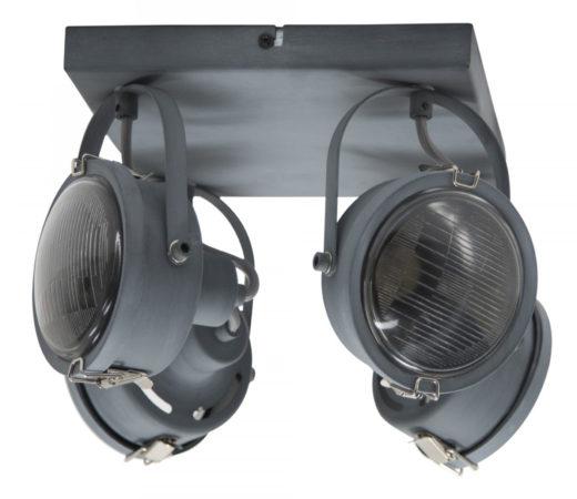 Afbeelding van Selected by Satellite 4 plafondlamp/wandlamp metaal grijs