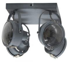 Selected by Satellite 4 plafondlamp/wandlamp metaal grijs
