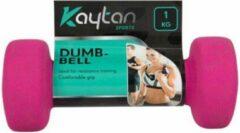 Roze Kaytan Dumbbell set - 1 kg - 2 stuks