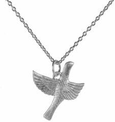 Lauren Sterk Amsterdam ketting vogel - 925 zilver gerhodineerd - extra coating