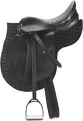 Kerbl Zadelset - De set voor beginners met een superprijs - Pony - 95 cm - 16,0 inch - zwart