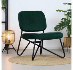 Bronx71 Moderne fauteuil Julia Velvet groen